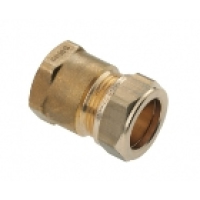 """Schroefbus messing 15 mm - 1/2"""" (binnendraads)"""