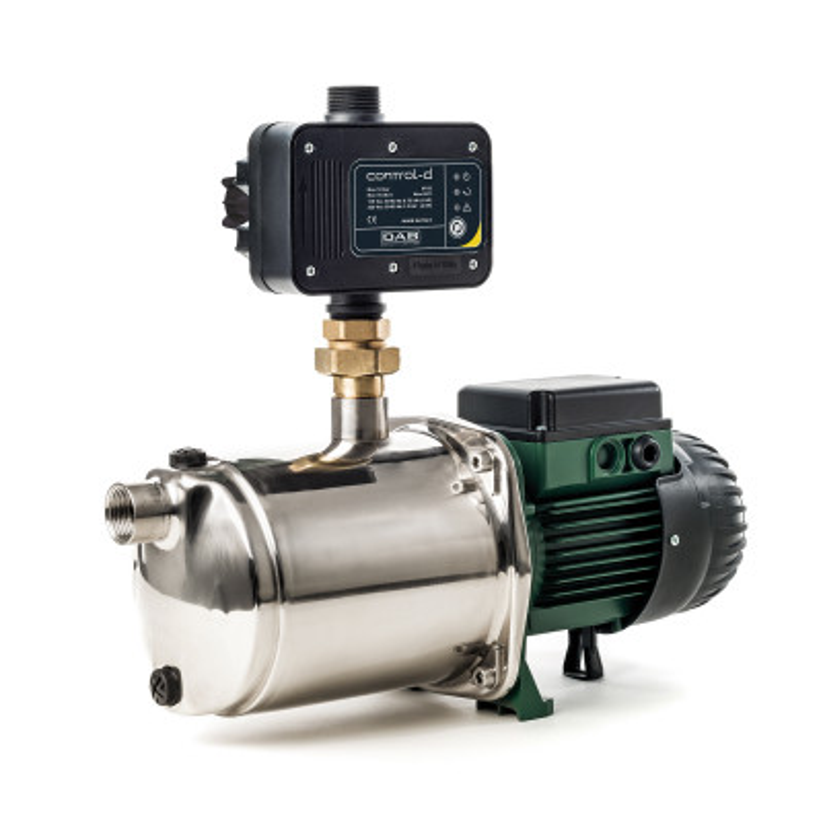 DAB EuroInox 40/50 M + DAB Control-D + Bekabeling